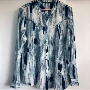 10 Feet Blouse Long Sleeves Button Down